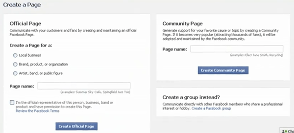 Web forms in social media